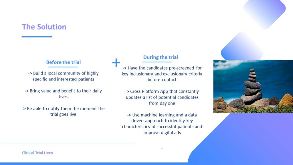 Before the Trial: Build a local community of highly specific and interested patients.